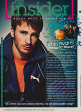 Chris Evans 1pg COSMO GIRL magazine feature, clippings