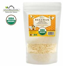 100% Pure Certified USDA Organic Beeswax White Pastille 16oz
