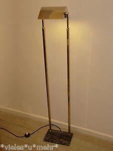 Vintage Floor Lamp,,~1940, Art Deco, Kaiser Leuchten-Germany, marble-chrome