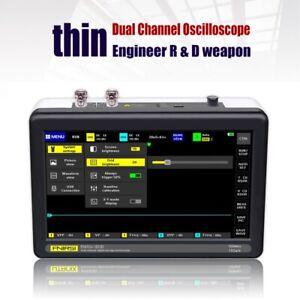 Portable FNIRSI 1013D Pocket 7 inch 2 Channels Oscilloscope 100MHz Bandwidth 1GS
