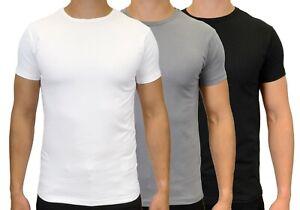 Men's Slim Fit Short Sleeve Stretch Crew Neck T-Shirts, BNWT