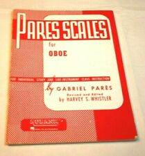 Pares Scales for Oboe Book As Is
