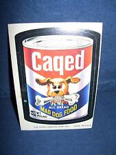 Wacky Pack Caged Mad Dog Food Sticker Series Seven 1974 Tan Back