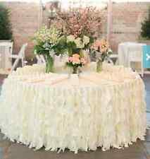 Ruffles white table skirt, party, wedding, anniversary holiday christmas