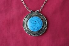 Afghan Turkman Vintage Ethnic Antique Created Lapis Pendant Decoration Jewelry