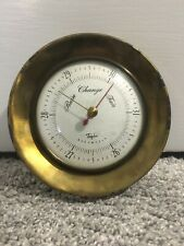 Antique Taylor Brass Desk Barometer RAIN/CHANGE/FAIR, MADE IN USA