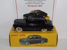 ATLAS DINKY PEUGEOT 403 BLACK 24B MODEL CAR