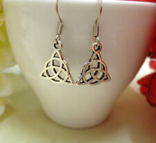 Small Silver Celtic Knot Earrings Trinity Knot Triquetra BohoLadies Girls Gift