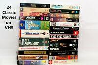 Lot 24 VHS Star Trek/My Fair Lady/Osmond/Apollo 13/An Affair to Remember/Top Gun