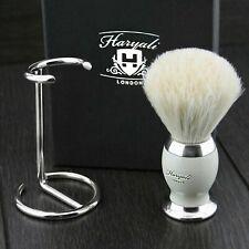 Pure White Badger Hair Shaving Brush with stand for Men Perfect Shaving Kit