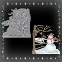Stanzschablone Schneemann Baum Winter Weihnachts Hochzeit Geburtstag Karte Album