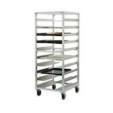 New Age 96058 Mobile Open Sides Universal Tray Rack W/ 10 Tray capacity