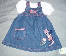 robe jean coton neuve etiquetée disney minnie taille 3-6 mois