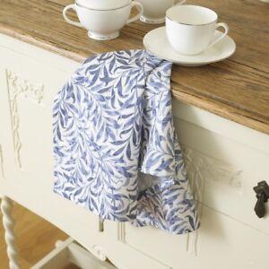 William Morris Willow Bough Blue Cotton Floral Tea Towel