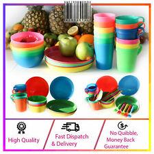 Plastic Reusable Plates *Set of 5* Multi Coloured Picnic Kids Party BBQ Camp