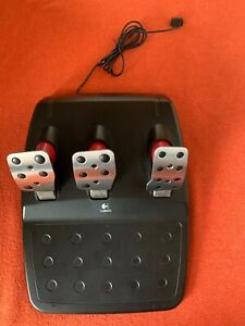 Logitech Racing Pedals ONLY! w/Red Cylinders - TESTED & WORKS.