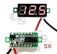 5x 5pcs Red DC 0-30V LED Display Digital Voltage Voltmeter Panel Car Motorcycle