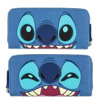 Disney Parks Stitch Loungefly Zipper Wallet Clutch Credit Card 2-Sided - NEW