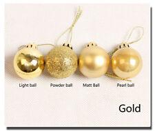 24Pcs Glitter New Year Christmas Balls Baubles Xmas Tree Hanging Ornament Decor