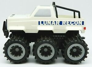 1983 Vintage High Risers 6x6 White LUNAR RECON Toy Pickup Truck Vehicle CBS Toys