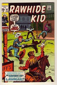 Rawhide Kid #83 - January 1971 Marvel - Western stories - Fine (6.0)