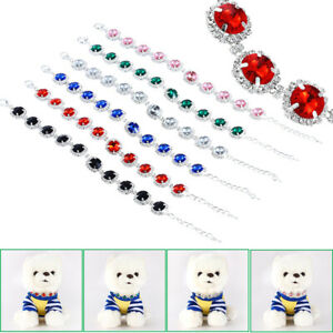 Bling Rhinestone Pet Dog Necklace Puppy Crystal Jewellery Chihuahua Dog Collar