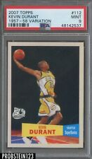 2007 Topps 1957-58 Variaiton #112 Kevin Durant RC Rookie Supersonics PSA 9 MINT