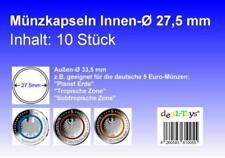 10 Münzkapseln 27,5mm, geeignet für 5 Euro Münze...