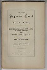 1876 NY SUPREME COURT CASE - ASH v HENRY ASTOR - CAYUGA COUNTY