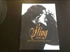 Sting 1996 Mercury Falling Tour Brochure.