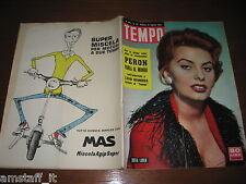 RIVISTA TEMPO 1955/33=SOFIA LOREN=SERGIO MANTOVANI=PATRICIA MEDINA=SOFT-BALL=