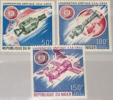 Níger 1975 452-54 c248-50 russo American Space Cooperation Apollo soyuz mnh