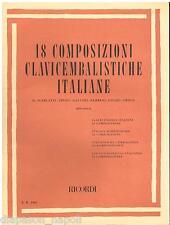 18 Composizioni Clavicembalistiche Italiane (Silvestri)  - Ricordi