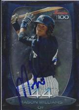 Mason Williams New York Yankees 2013  Bowman Top 100 Signed Card