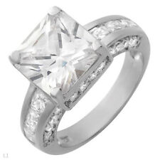 Engagement Ring With 10.75ctw Cubic zirconia in 925 Sterling Silver
