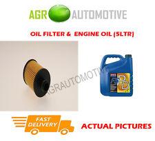 DIESEL OIL FILTER + FS PD 5W40 OIL FOR ALFA ROMEO MITO 1.6 120BHP 2008-10
