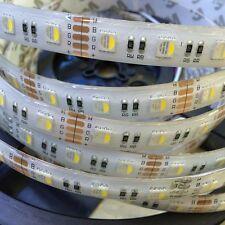 New RGBW LED strip Waterproof 12V 24V 4 colors in 1 Led 5050 SMD Tape 60LED/m 5m