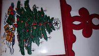 "Vtg Holiday Cast Iron Tile Trivet 5"" x 9 1/2""(Holiday Mid-Century)"