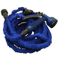 Flexibler Gartenschlauch 10 Meter Wasserschlauch inklusive Brause blau