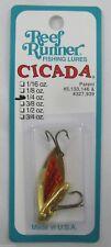 """REEF RUNNER CICADA BLADE BAIT LURE 1/4 OZ. 1-5/8"""" GOLD/ORANGE C3-203"""