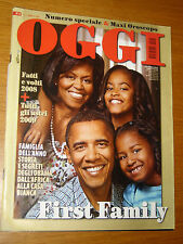 OGGI 2009/1=BARACK OBAMA FIRST FAMILY=GIORGIO GABER=DICK FULD=ANNO DOSSIER 2008