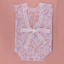 Baby Bodysuit Romper Girls Lace Floral Photo Props Photography Costume Accessory
