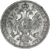AUSTRIA coin 1 Florin 1873 aUNC About Uncirculated condition