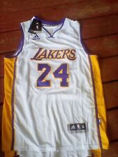 Los Angeles Lakers Kobe Bryant #24 Retro Embroidered White Jersey Adidas XL