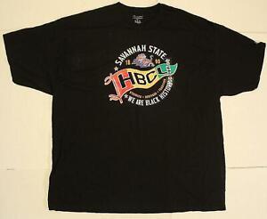 Savannah State University Men's Champion SSU Graphic T-Shirt FR7 Black Size 3XL