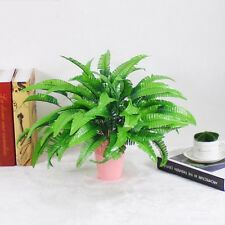 Green Imitation Fern Plastic Artificial Grass Leaf Plant Home Wedding Decor ME