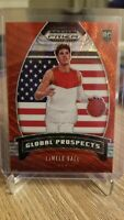 2020 Panini Prizm Draft Picks Global Prospects Lamelo Ball RC Ruby Wave Red