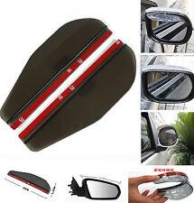 2 Pcs Black Vehicle Rear Mirror Rain Board Eyebrow Visor Rain Shield Water Guard
