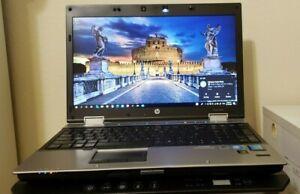 "HP ELITEBOOK 8540P 8GB RAM 500GB SSD INTEL i7 CPU M620@2.67GH 15""6 WINDOW 10 PRO"