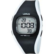 Lorus by SEIKO R2337GX9 Black & White Multifunction Digital Watch 100m